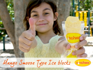 Day out with the kids - food ideas - Mango smoothie ice blocks