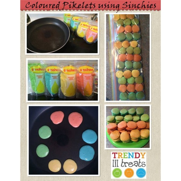 Rainbow Pikelets Recipe - Sinchies Style