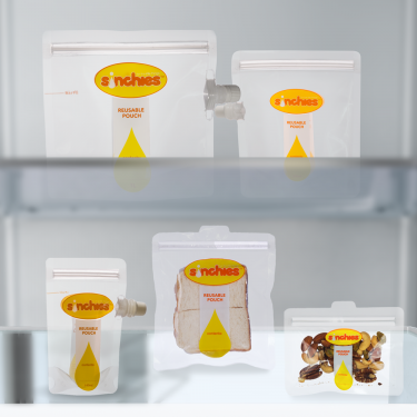 Chill Freeze and Store Pack - Reusable bags and spouts